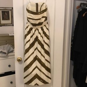 Striped strapless dress! Beautifully made!